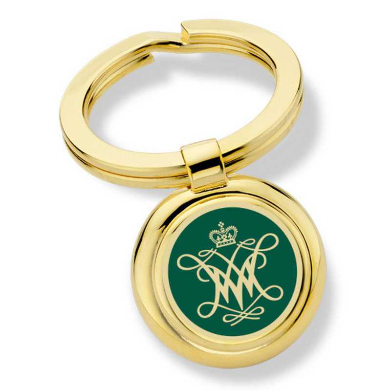 615789944683: College of William & Mary Enamel Key Ring by M.LaHart & Co.