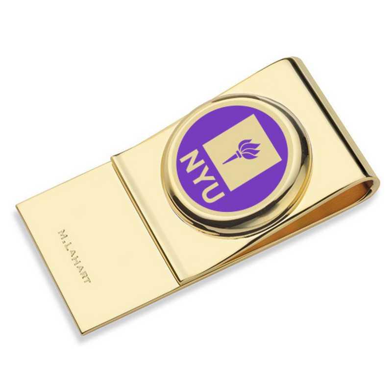 615789268369: New York University Enamel Money Clip