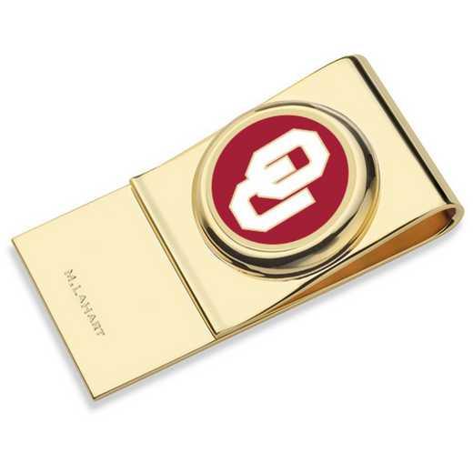 615789268703: Oklahoma Enamel Money Clip