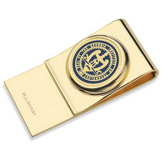 615789280699: Georgia Tech Enamel Money Clip