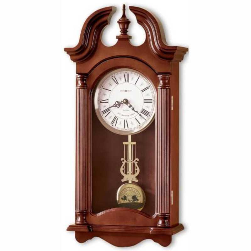 615789281498: Michigan State Howard Miller Wall Clock