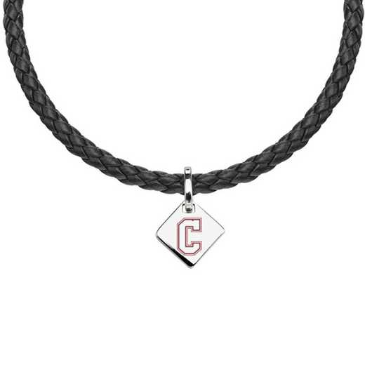 615789177753: College of Charleston Leather Necklace with SS Tag