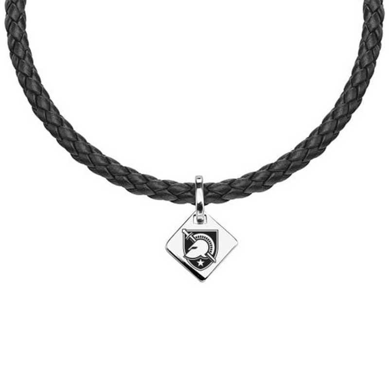 615789384717: US Military Academy Leather Necklace with SS Tag