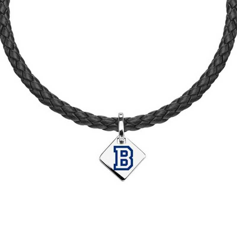 615789461340: Bucknell Leather Necklace with SS Tag