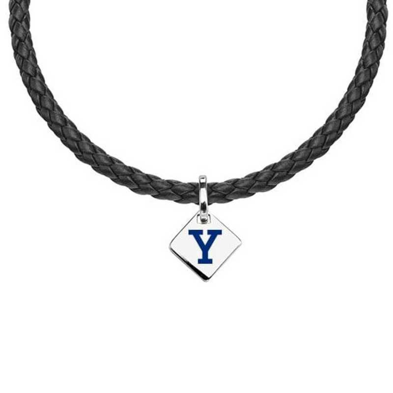 615789472926: Yale Leather Necklace with SS Tag
