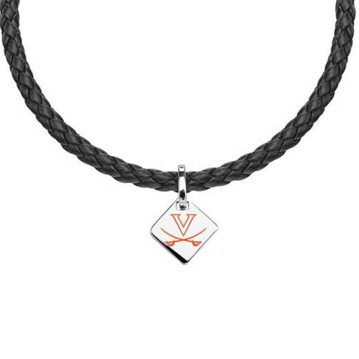 615789679042: Virginia Leather Necklace with SS Tag