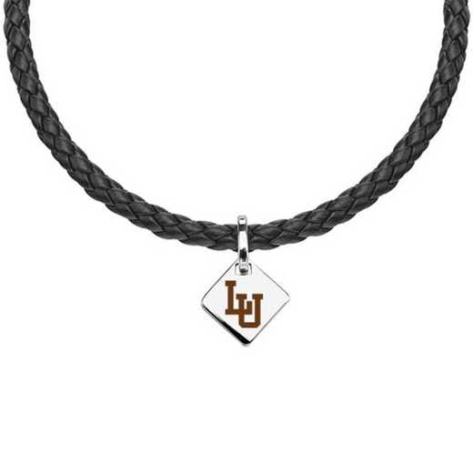615789730743: Lehigh University Leather Necklace with SS Tag