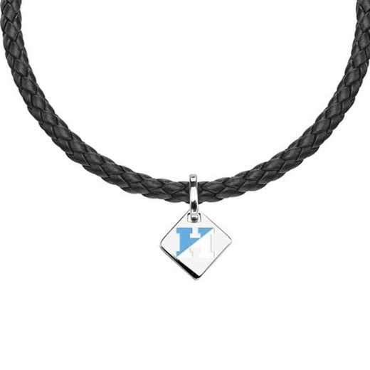 615789860754: Johns Hopkins Leather Necklace with SS Tag
