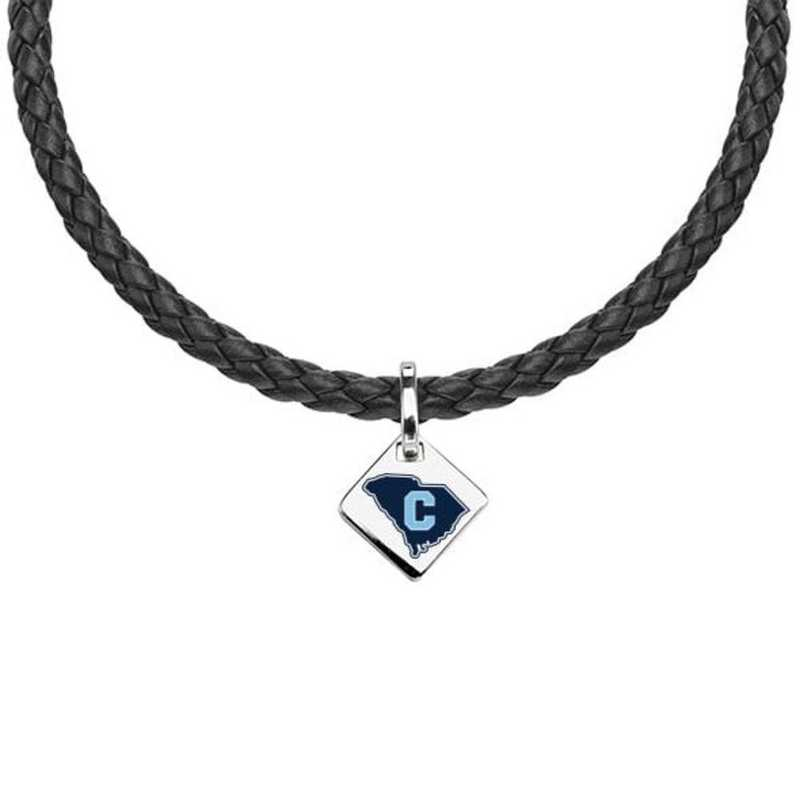 615789884798: Citadel Leather Necklace with SS Tag