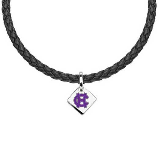 615789921844: Holy Cross Leather Necklace with SS Tag