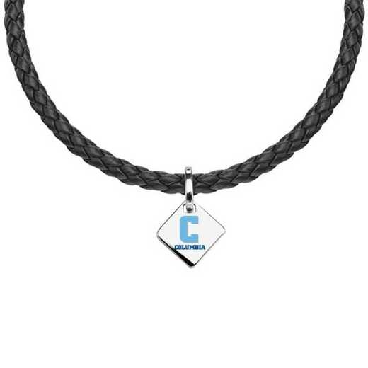 615789956754: Columbia Leather Necklace with SS Tag