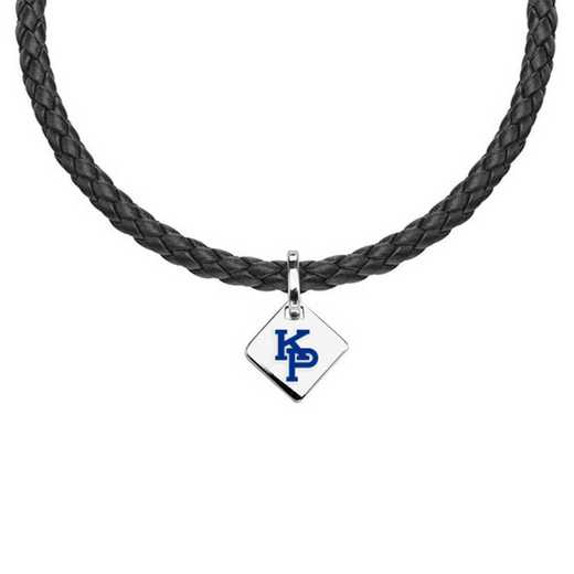 615789982470: US Merchant Marine Academy Leather Necklace with SS Tag