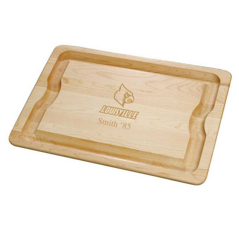 615789104810: UNIV of Louisville Maple Cutting Board by M.LaHart & Co.