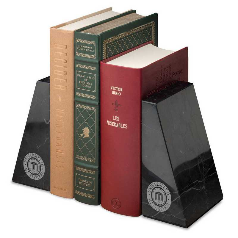 615789891024: University of Mississippi Marble Bookends