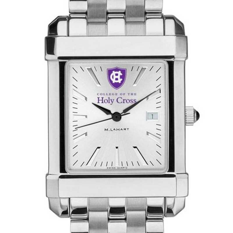 615789450429: Holy Cross Men's Collegiate Watch w/ Bracelet