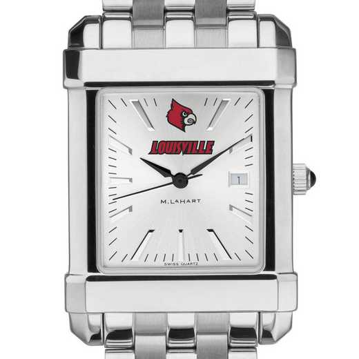 615789857624: University of Louisville Men's Collegiate Watch w/ Bracelet