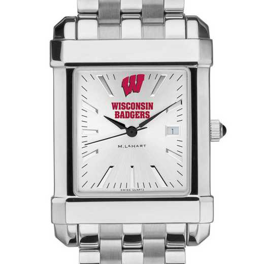 615789149620: Wisconsin Men's Collegiate Watch w/ Bracelet