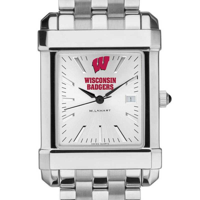 615789149620: Wisconsin Men's Collegiate Watch w/ Bracelet