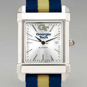 615789136705: Georgia Tech Collegiate Watch W/NATO Strap for Men