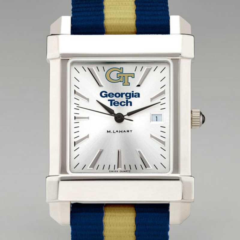 615789136705: Georgia Tech Collegiate Watch W/NATO Strap for Men
