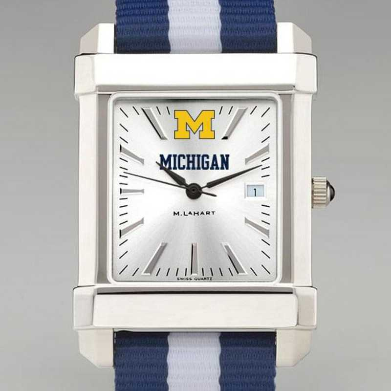 615789163787: Univ of Michigan Collegiate Watch W/NATO Strap for Men