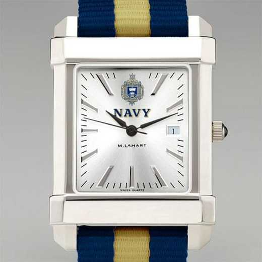615789260738: US Naval Academy Collegiate Watch W/NATO Strap for Men