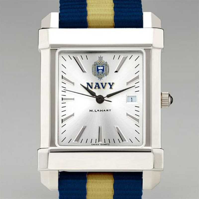 615789260738: US Naval Academy Collegiate Watch W/NATO Strap for Men