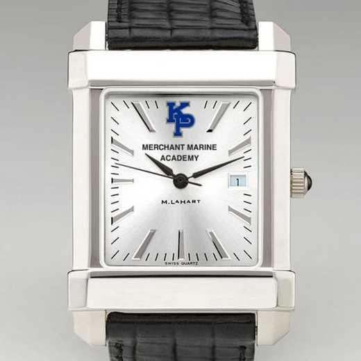 615789019305: USMMA Men's Collegiate Watch W/ Leather Strap