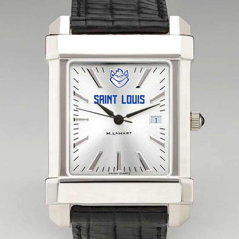 615789039495: Saint Louis Univ Men's Collegiate Watch W/ Leather Strap