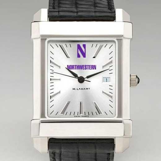 615789044864: Northwestern Men's Collegiate Watch W/ Leather Strap