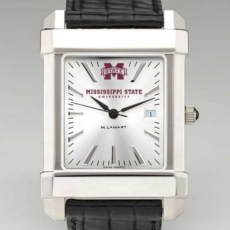 615789059080: Mississippi State Men's Collegiate Watch W/ Leather Strap