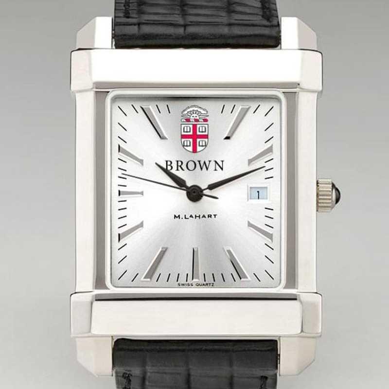 615789064343: Brown Men's Collegiate Watch W/ Leather Strap