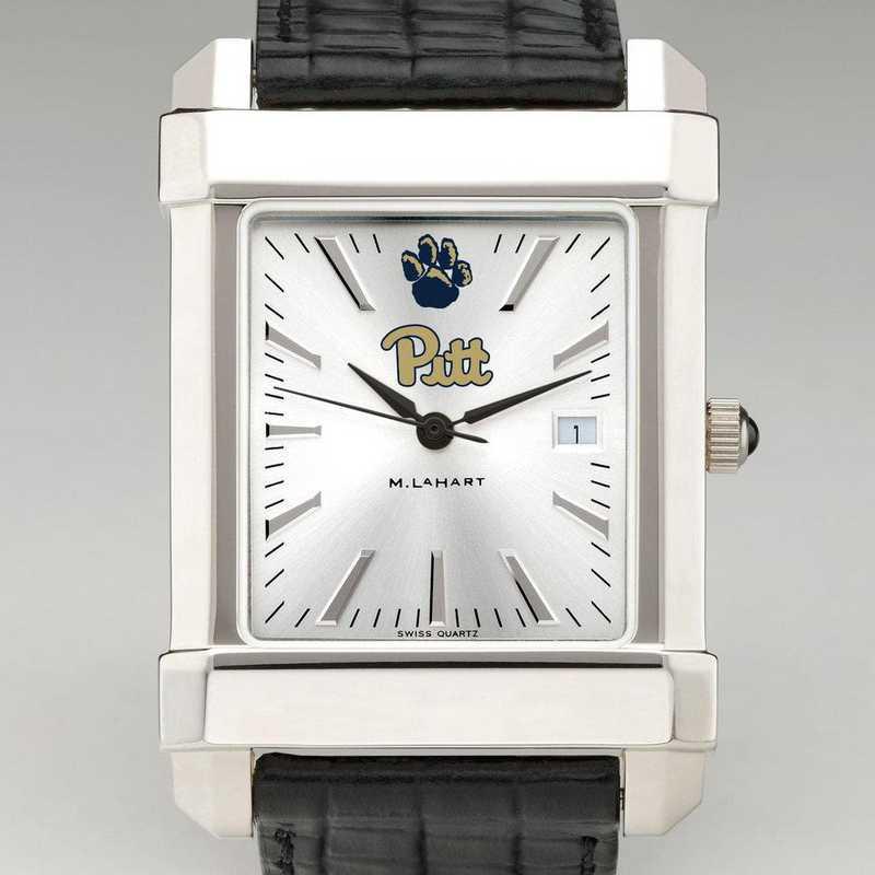 615789072768: Pitt Men's Collegiate Watch W/ Leather Strap