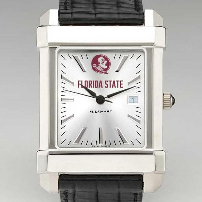 615789086505: Florida State Men's Collegiate Watch W/ Leather Strap