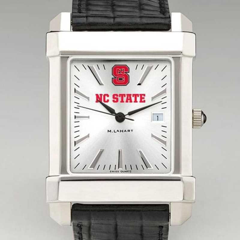615789107569: NC State Men's Collegiate Watch W/ Leather Strap