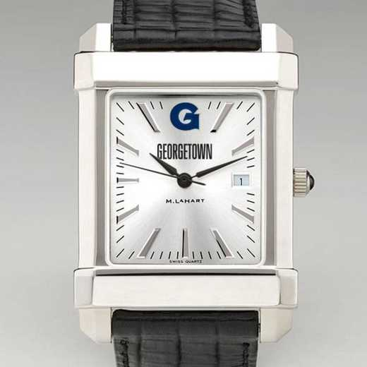 615789152019: Georgetown Men's Collegiate Watch W/ Leather Strap