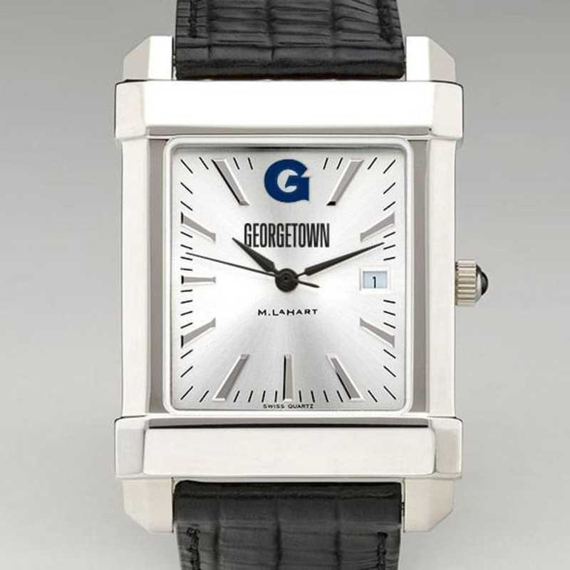 615789152019: Georgetown Men's Collegiate Watch W/ Leather Strap