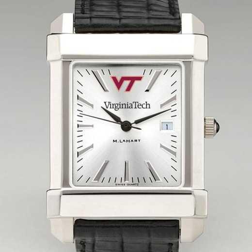 615789169239: Virginia Tech Men's Collegiate Watch W/ Leather Strap