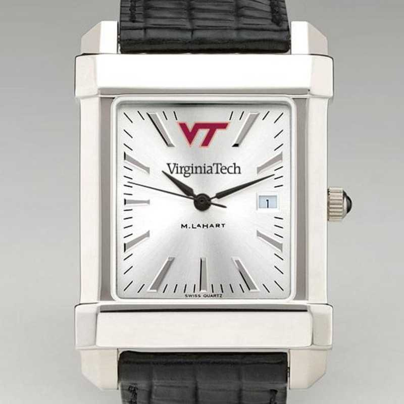 615789169239: Virginia Tech Men's Collegiate Watch W/ Leather Strap