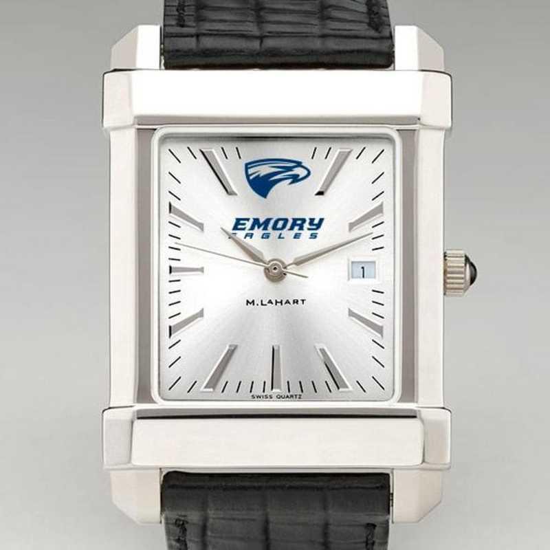 615789175841: Emory Men's Collegiate Watch W/ Leather Strap