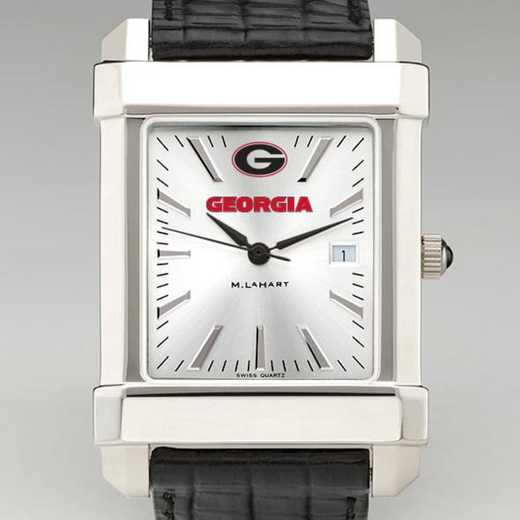 615789342250: Georgia Men's Collegiate Watch W/ Leather Strap
