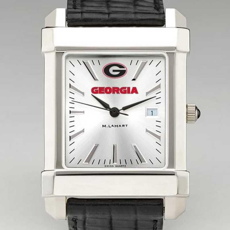 615789342250: Georgia Men's Collegiate Watch W/ Leather Strap