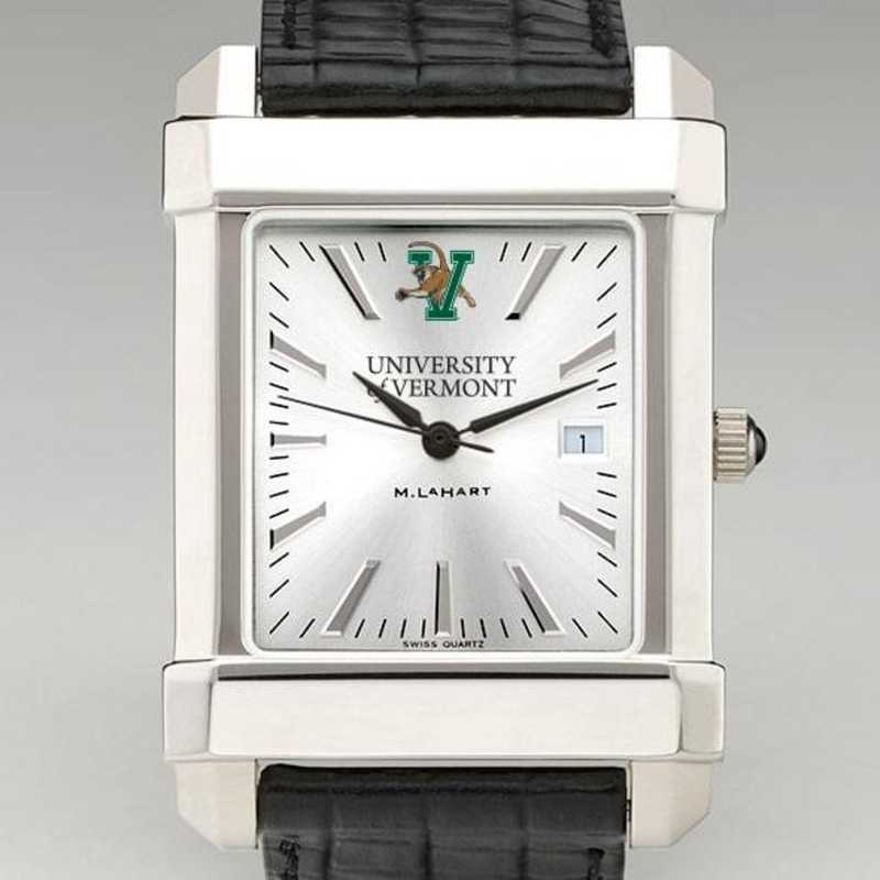 615789346333: UVM Men's Collegiate Watch W/ Leather Strap