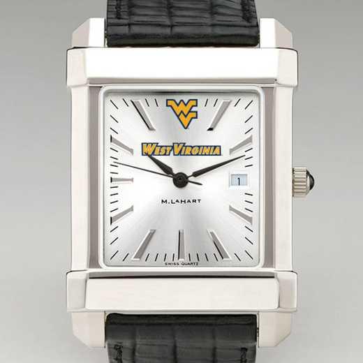 615789373889: West Virginia Univ Men's Collegiate Watch W/ Leather Strap