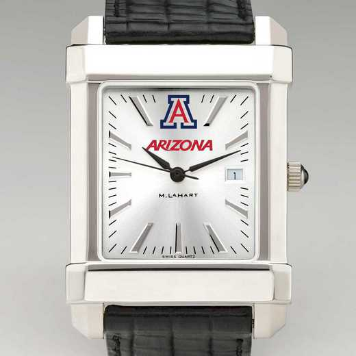 615789427735: Univ of Arizona Men's Collegiate Watch W/ Leather Strap