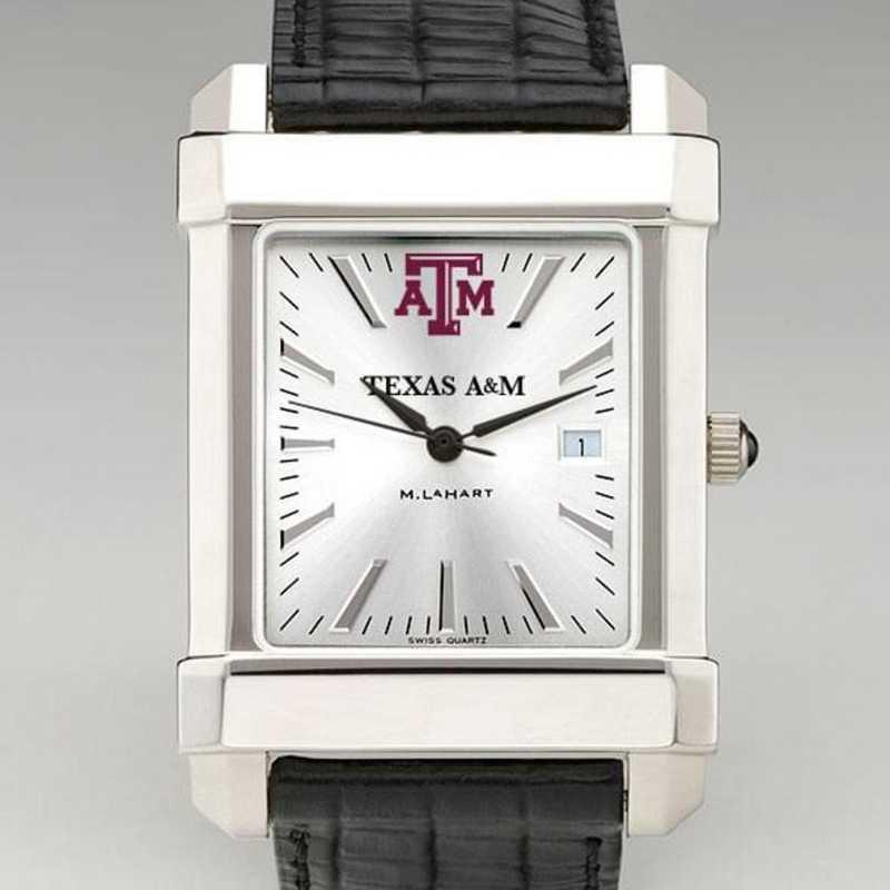 615789454649: Texas A&M Men's Collegiate Watch W/ Leather Strap
