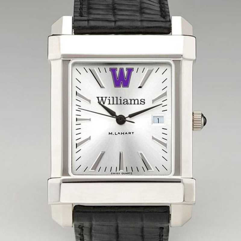 615789591399: Williams College Men's Collegiate Watch W/ Leather Strap