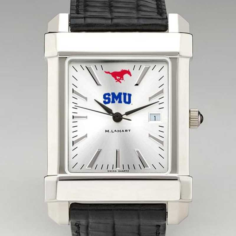 615789601647: SMU Men's Collegiate Watch W/ Leather Strap