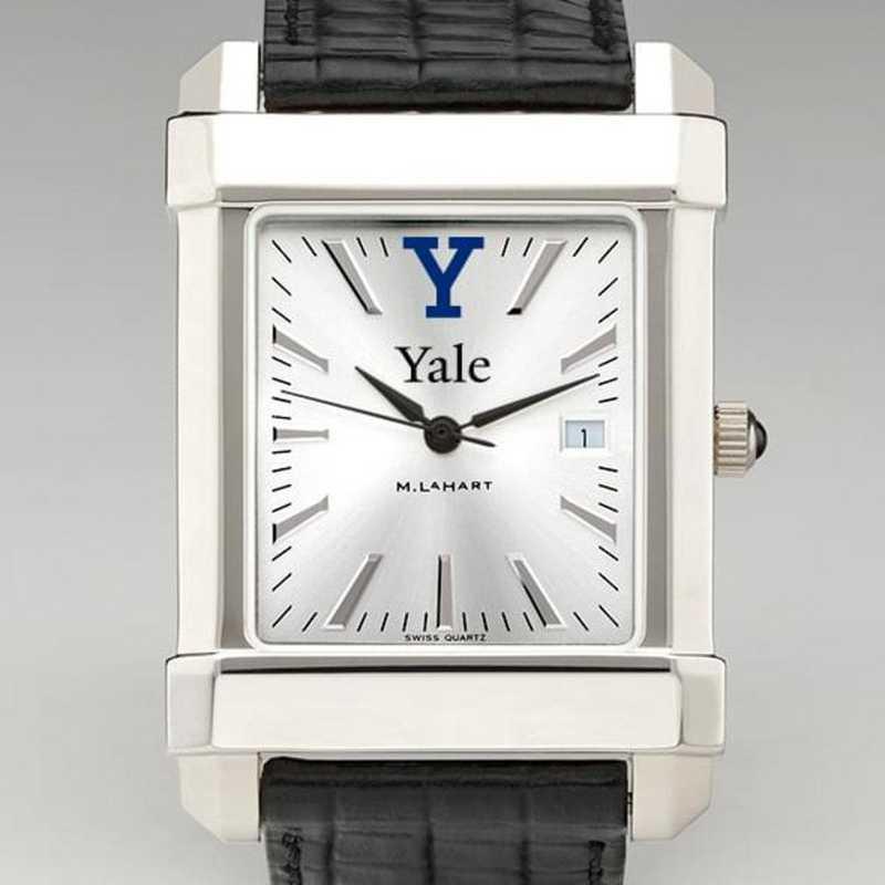 615789613169: Yale Men's Collegiate Watch W/ Leather Strap
