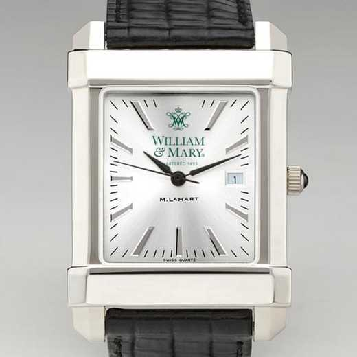 615789664994: William & Mary Men's Collegiate Watch W/ Leather Strap